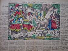 Image d'épinal numéro 23 Sainte Geneviève de Brabant Flèche Chasse Biche