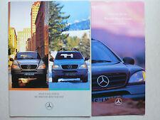 Prospekt Mercedes M-Klasse W 163 zur Premiere, 5.1997, 24 Seiten + Preisliste