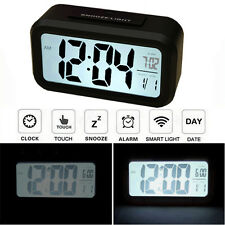 Touch Light Sensitive Control Digital LCD Backlight Bedside Snooze Alarm Clock