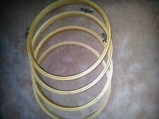 """Wood Wooden Ebroidery Cross Stitch Hoops 8""""  New Lot of 4"""