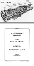 Pratt & Whitney J75 1950's historic manual archive rare detail CF-105 Arrow