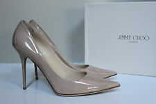 10.5 / 40.5 Jimmy Choo Abel White Patent Leather Classic Pointed Toe Pump Shoe