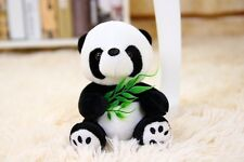 Lovely Mini Sitting Bamboo leaf Panda Stuffed Animals soft toys plush doll 12CM