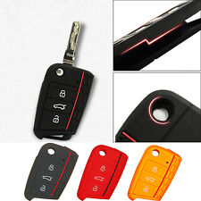 Silicone Car Key Case Remote Key Bag Holder Cover For Volkswagen VW Golf 7 mk7