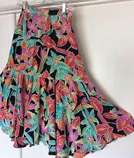 Womens Gypsy Skirt Sz S Hippie Boho Long Tiers Carole Little Dance Festival