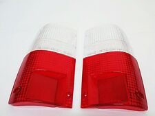 TAIL LIGHT CLEAR-RED LENS PAIR FOR TOYOTA HILUX MK3 LN85 PICKUP TRUCK 89-95