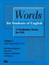 Pitt Series in English As a Second Language: Words for Students of English...