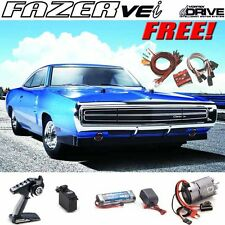 Kyosho 1/10 Fazer VEi 1970 Dodge Charger Blue 4WD Touring Car RTR w/ Free LED