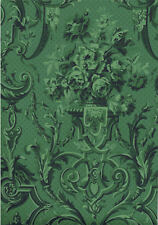 Stunning Historic Green Damask Wallpaper - Priced & Sold Per Triple Roll  CP6094