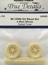 True Details Messerschmitt Bf 109B/G-2 Wheels Radial Tread Tires TD32002