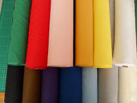 """Plain colours polycotton fabric  45"""" sold by metre lowest Price on EBAY"""