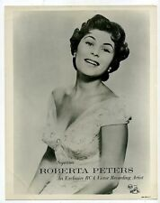 ROBERTA PETERS Original Photo SOPRANO OPERA SINGER 1950 RCA Victor