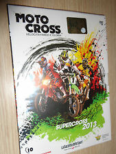 DVD N°10 SUPERCROSS 2013 MOTO CROSS VELOCITA' FANGO E GLORIA MOTOCROSS GAZZETTA