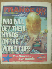 WORLD CUP FRANCE 98 - THE EXPRESS NEWSPAPER - WORLD CUP IN PICTURES JUNE 7th
