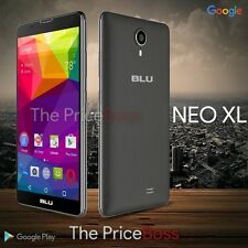 "Blu Neo XL 6.0"" HD Phone 4G 8MP Android Unlocked GSM Black N110U New"