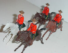 Old BRITAINS Lead, Royal Canadian Mounted Police, Set #9256, 4 Pieces, c.1961