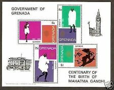 Grenada 1969 Mahatma Gandhi of India Birth Centenary M/s RARE
