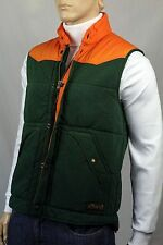 POLO Ralph Lauren Large Bohemian French Terry Green Orange Vest Puffer NWT