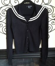 hell bunny size small sailor pin up black ans white cardigan sweater