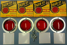 WILLYS MB SLAT GRILL TIGER-EY PLASTIC REFLECTOR SET OF 4 INCLUDING FIXINGS