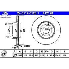 Disque de frein, 1 unités uat 24.0112-0128.1