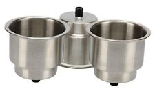 NICE!!! 6 x Stainless Steel Cup Drink Holder with Drain Marine Boat Rv Camper-AM