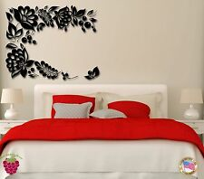 Wall Stickers Vinyl Decal Flowers Leafs And Berries For Bedroom  (z1726)