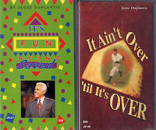jesse duplantis ITS FUN BEING SAVED  IT AINT OVER TIL ITS OVER VHS VIDEOTAPE LOT