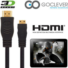 GoClever Tab A73 android tablette pc mini HDMI à HDMI TV 2.5 m cordon câble gold