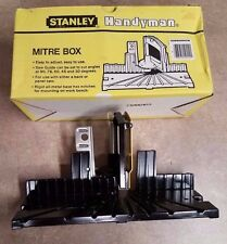 STANLEY HANDYMAN MITRE BOX 19-114 MITER H114 A NEW  ALL METAL DESIGN NO SAW