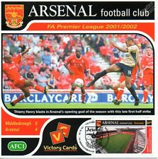 Arsenal 2001-02 Middlesbrough (Thierry Henry) Football Stamp Victory Card #101