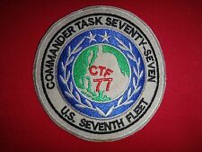Vietnam War Patch US Navy 7th Fleet COMMANDER TASK FORCE CTF-77