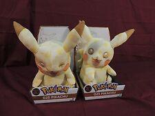 "Pokemon 20th Anniversary Pikachu and Winking Pikachu 10"" Plush RARE COLLECTIBLE!"