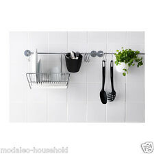 Ikea BYGEL 55cm Hanging Rail Kitchen Utensil Rack Towel Rail Wall Storage -d110
