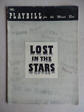 May 1950 - Music Box Theatre Playbill - Lost In The Stars - Todd Duncan