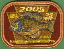 Pa Pennsylvania Fish Commission 2005 25 Yr Anniversary Bluegill P.L.A.Y. Patch