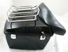 Complete Mutazu King Tour Pak trunk with top rack fits Harley Touring FLH FLT