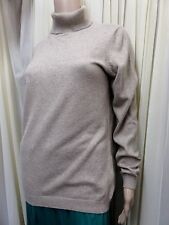 GORGEOUS M&S BEIGE MARL ROLL NECK SWEATER WITH ANGORA AND CASHMERE SIZE 16