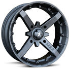 (4) MSA MotoSport Alloys 18 Inch Battle M23 Rim Wheel Kawasaki Teryx Polaris RZR