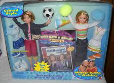 #6491 NRFB Mattel School Style Mary Kate & Ashley Dolls Giftset