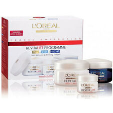 L'OREAL REVITALIFT ANTI WRINKLE DAY NIGHT & EYE FACE CREAM SKINCARE GIFT SET