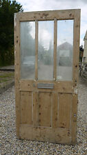 XGL00 (40 x 81 3/4) Original External Period Pine Reclaimed Old Front Door York