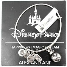 NEW Disney Parks Alex and Ani Star Wars BB-8 Droid Silver Charm Bracelet