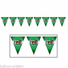 Horse Racing Hanging Banner Derby Horses Party Wall Decoration Prop Party