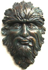 Mythical Green Man Leaf Face Face Mask Wall Decor Leaf Color OVERSTOCK
