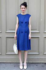 Kleid dress blau blue 50er True VINTAGE 50´s elegant rockabilly chic smart mode