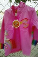 Rainbow Brite Raincoat Brand New size 4 small s Children's nwt rain coat