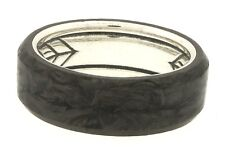 David Yurman Sterling silver forged carbon men's band ring size 11.25 NEW