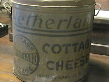 Antique Cottage Cheese Tin Large Restaurant size