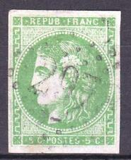 "FRANCE STAMP TIMBRE 42 Bi "" BORDEAUX 5c VERT EMERAUDE CLAIR "" OBLITERE TB M712"